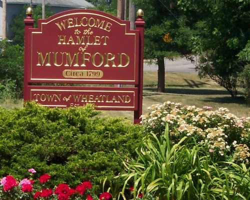 Welcome to Mumford, New York